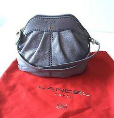 Sac-LANCEL-Gousset-bandouliere-lavande-bleu-violet-cuir