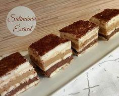 Csodás finomság, amit még sütni sem kell, ezért is szeretjük ezt az édességet! hozzávalók 30×20 cm-es tepsihez 30 dkg vajas keksz 1 csomag tejszínes pudingpor 1 csomag karamellás pudingpor 1 csomag csokoládés pudingpor 1,2 l tej 9 ek cukor Kb … Egy kattintás ide a folytatáshoz.... → Tiramisu, Tej, Ethnic Recipes, Diy Crafts, Food, Caramel, Make Your Own, Essen, Homemade