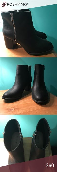 Black Ankle Booties NEW WITHOUT TAGS ‼️  Never worn & they are SO comfortable!  With the purchase of these boots, I will ship an additional item of your choice from my closet for free with them (excl. MK purse) torrid Shoes Ankle Boots & Booties