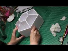 organizador de escritorio en carton pluma - YouTube