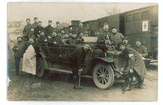 Contribution de Dubois Lucien, AD76 - Groupe de soldats portant le brassard de la Croix-rouge, 1num0274