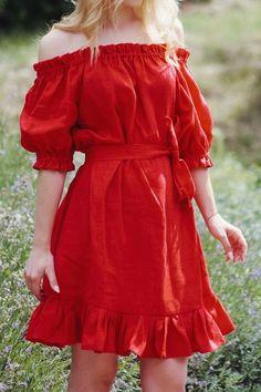 Linen Dresses, Cute Dresses, Beautiful Dresses, Casual Dresses, Short Dresses, Teen Fashion Outfits, Look Fashion, Fashion Dresses, Gothic Fashion
