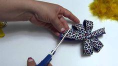 Como hacar lazos con cinta  decorados con flores kanzashis- Manualidades