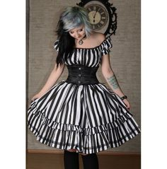 rebelsmarket_black_white_stripe_brocade_gothic_rockabilly_ruffle_corset_dress_9_to_ship_dresses_4.jpg