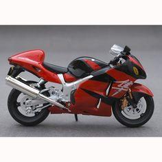 Glaring SUZUKI GSX 1300R Motorcycle Model - Red