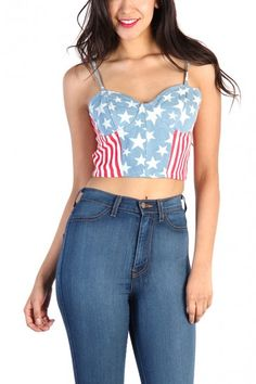 American Flag Bustier#tops #croptops #aztec #lovemelrose #leggings #dress #shorts #highwaisted #highwaistedjeans #jeans #shoes #jewelry #hat #plus #plussize #earrings