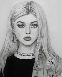 Likes, 15 Kommentare – Art Featuring Page … – … - Kunst Skizzen Girl Drawing Sketches, Girl Sketch, Pencil Art Drawings, Sketch Art, Cute Drawings, Drawing Tips, Drawing Art, Easter Drawings, Girl Drawings