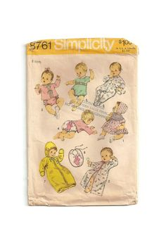 Vintage Baby Sewing Pattern Infant Layette 6 by EclecticEmbrace