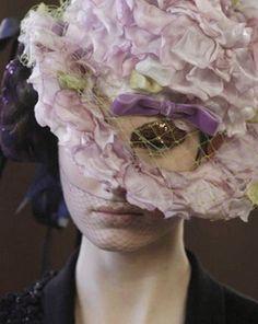 comme des garçons fall winter (this is just sad) Show Makeup, Lady Jane, I Believe In Pink, Floral Headpiece, Hood Ornaments, Love Hat, Comme Des Garcons, Purple Rain, Dark Beauty