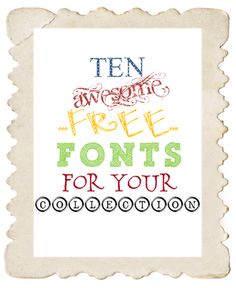 10 Awesome Free Fonts