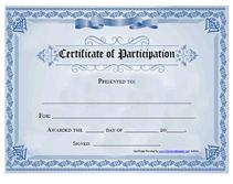 22 best certificate of participation template images on pinterest in