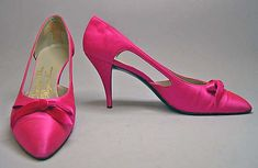 Shoes (meant to be worn with previous silk & fur ensemble), fall/winter 1961-62, House of Dior, Roger Vivier, French
