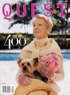 Short biography of CZ Quest.  Died November of 2003.  On the cover of 2003 Quest magazine.11/10/03 -