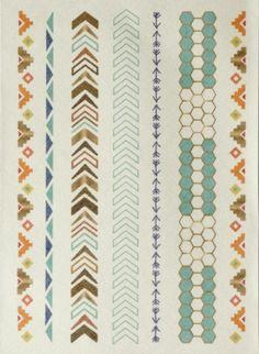 Planche Frises pour customisation, 22 x 30 cm, Bergère de France Nouveautés 2016, broderie & tricot Achat en ligne
