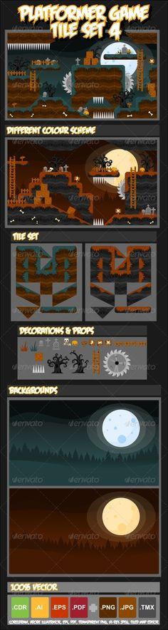 Platformer Game Tile Set 4 - Download: http://graphicriver.net/item/platformer-game-tile-set-4/4399659?ref=sinzo #Tilesets #Game #Assets