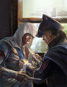 Connor Kenway & Haytham Kenway // Assassin's Creed