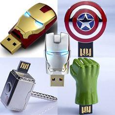 AVENGERS USB Flash Drive 5pcs Ironman War Machine Captain America Thor Hulk 8GB | eBay