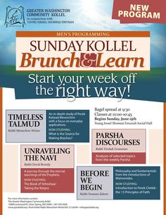 Sunday Kollel Brunch & Learn