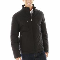 Claiborne Jacket black solid winter Coat polyester men's size S, M NEW  49.99 http://www.ebay.com/itm/Claiborne-Jacket-black-solid-winter-Coat-polyester-mens-size-S-M-NEW-/231543397264?ssPageName=STRK:MESE:IT