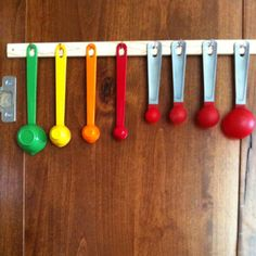 Great idea for kitchen measuring spoons!