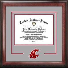 Washington State Cougars 11 inch x 14 inch Spirit Diploma Frame