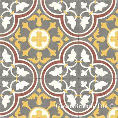roseton in stock at get Style Tile, Dream Tile, Floor Patterns, Flooring, Tile Floor, Cement Tile Shop, Patterned Floor Tiles, Concrete Art, Tile Patterns