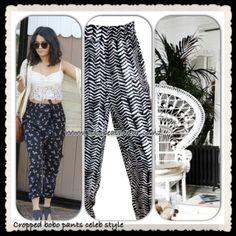Cropped Boho drape Pants Drape Pants, Harem Pants, Boho Outfits, Cropped Pants, My Style, How To Wear, Clothes, Beach, Fashion