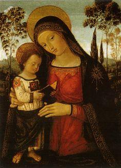 Pinturricho - Madonna and Reading Jesus, 1494/98