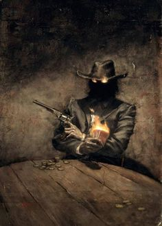 Illustration of a mythical pirate figure: the Coder. Acquired from the Union's Cultural Archive. Character Concept, Character Art, Concept Art, Arte Horror, Horror Art, Dark Fantasy Art, Dark Art, Fantasy Artwork, Westerns