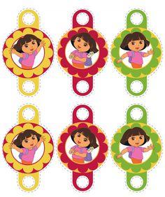 Tags e saias de cupcakes da Dora Aventureira Grátis - Dicas pra Mamãe