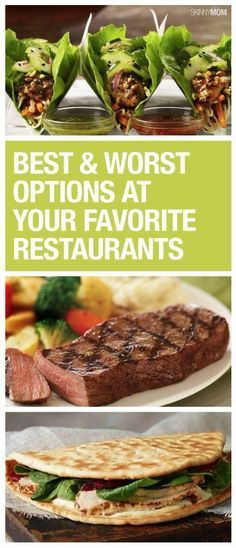 Healthy Eating at Restaurants: Here's a list of the best and worst options at some of your favorite restaurants. Healthy Recipes, Healthy Food, Eating Healthy, Healthy Tips, Healthy Meals, Healthy Routines, Stay Healthy, Healthy Habits, Healthy Cooking