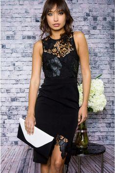stylestalker tlc black lace dress