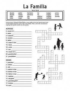 It's just a picture of Decisive Printable Spanish Crossword Puzzle