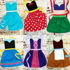 Set of Your Choice of Disney inspired Princess APRON S. Fits mo 4 5 6 7 8 9 10 12 Dress up Costume Toddler Baby Girl Birthday. Disney Aprons, Disney Princess Aprons, Disney Princess Crafts, Toddler Princess Dress, Sewing Hacks, Sewing Projects, Sewing Ideas, Sewing Aprons, Diy Couture