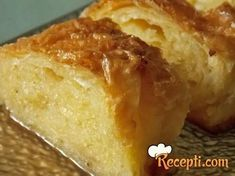 Mirisna griz pita ~ Recepti iz moje kuhinje ♡ ✦ ❤️ ●❥❥●* ❤️ ॐ ☀️☀️☀️ ✿⊱✦★ ♥ ♡༺✿ ☾♡ ♥ ♫ La-la-la Bonne vie ♪ ♥❀ ♢♦ ♡ ❊ ** Have a Nice Day! ** ❊ ღ‿ ❀♥ ~ Sat Sep 2015 ~ ❤♡༻ ☆༺❀ . Bosnian Recipes, Croatian Recipes, Sweet Recipes, Cake Recipes, Dessert Recipes, Desserts, Barely Bread, Posne Torte, Croatian Cuisine