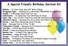 friendship survival kit - such a great idea and will only cost a little to collect the items.