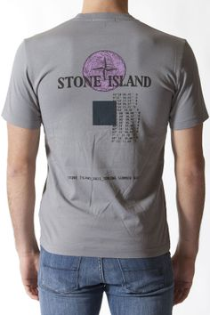 STONE ISLAND Gray t-shirt for men spring summer 2014