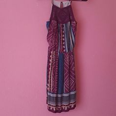 Fun tribal spring dress Great condition! Love the colors on this dress! I got it a size too small for me and I've only worn it once. Great for spring or summer. Charlotte Russe Dresses Mini