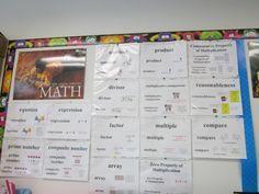 Math Word Wall!