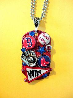 Boston Red Sox Dog Tag Pendant