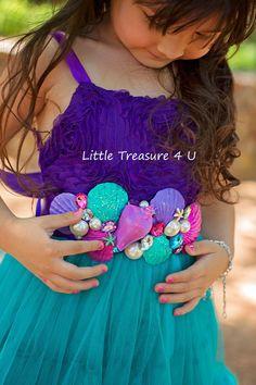 Stunning Little mermaid Ariel Seashell Sash by LITTLETREASURE4U, $23.00