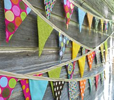 SALE FABRIC BUNTING, Flag Banner, Garland Bunting, Photo Prop, Party Decor, Multicolor, Extra Long 12 ft via Etsy