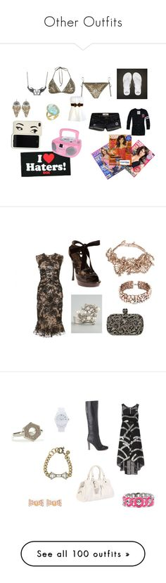 """""""Other Outfits"""" by singlemom ❤ liked on Polyvore featuring Hollister Co., AllSaints, Fantasy Jewelry Box, Kate Spade, DGK, Michele, Alexander McQueen, Marc by Marc Jacobs, Notte by Marchesa and Marchesa"""