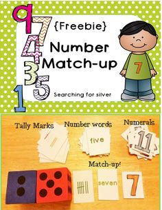 {Freebie} Number Match-up Activity!