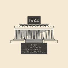 This Day In History - May 30 - 1922 - Chief Justice (and former President ) William Taft dedicates the Lincoln Memorial in Washington D.C.  ---  #thisdayinhistory #todayinhistory #tdih #history #onthisday #minimal #minimalism #simple #minimalist #texture #adobe #illustration #vector #365project #facts #america #usa #lincoln #abrahamlincoln #lincolnmemorial #washintondc #president #monument #memorial #architecture #building #nationalmall #1922 #fact