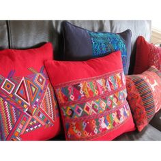NEAR & FAR Guatemalan Pillow Cases from Women's Co-op.  These vibrant colors really pop!
