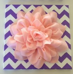 tutorial with pictures and link to template for felt flower on canvas...nice and simple