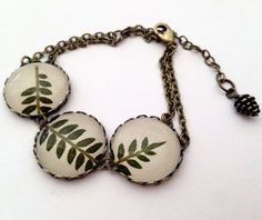 Real leaf bracelet