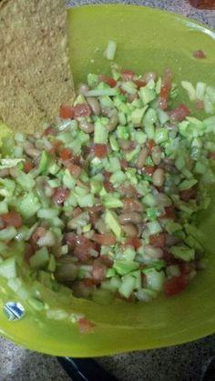 Ceviche de Frijol. Ver receta:http://www.mis-recetas.org/recetas/show/67511-ceviche-de-frijol