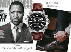 Citizen Men's watches are the perfect accessory for all occasions. @mensfitnessmag